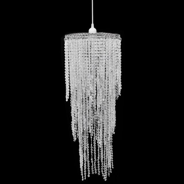CASASMART Lustre suspendu en cristal 26 x 70 cm
