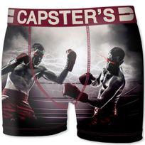 Capster'S Official - Boxer Homme Microfibre Box Rouge beige
