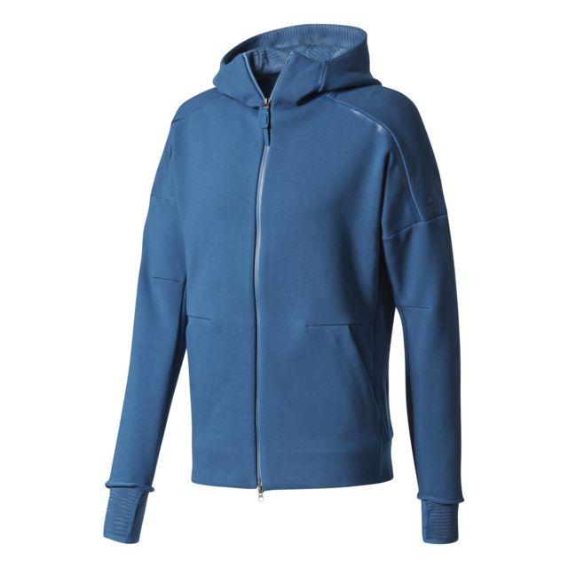 Adidas - Veste Z.N.E. Pulse Bleu nuit - pas cher Achat   Vente Tee-shirts 20c58cc14cb