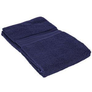 sensei la maison du coton drap de douche 70x140cm uni 550gr m coton marine pas cher achat. Black Bedroom Furniture Sets. Home Design Ideas