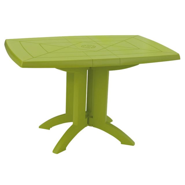 GrosFillex - Table de jardin Vega pliante Vert Anis 118 x 77 cm ...