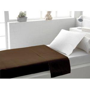 eden drap plat coton taupe lit 1 place pas cher achat vente draps plats rueducommerce. Black Bedroom Furniture Sets. Home Design Ideas