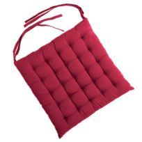 Tiseco Home Studio - Galette de Chaise 40 x 40 cm Rouge