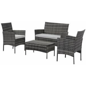 habitat et jardin salon de jardin en r sine tress e toronto florida gris 4 places nc. Black Bedroom Furniture Sets. Home Design Ideas