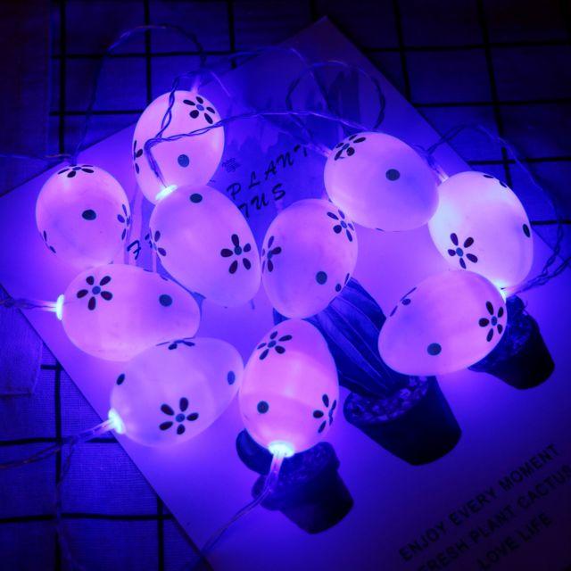 GÉNÉRIQUE La chaîne blanche de Pâques allume le type de batterie décoratif des lumières 10 Led 1.65M