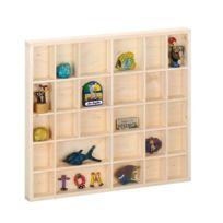 Zeller Present - Étagère vitrine murale en bois pour collections