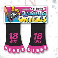 Kas Design - Chaussettes Orteils Anniversaire Roses - Chaussettes Orteils Roses 18 ans - Chaussettes Orteils Roses 18 ans