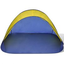 Casasmart - Tente pliante de plage hydrofuge Jaune / bleu