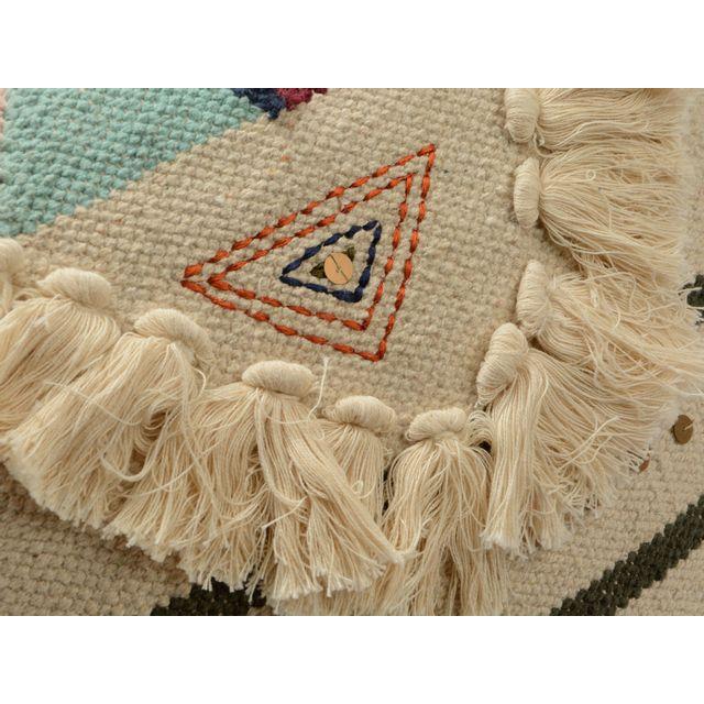 Amadeus - Coussin 100% coton L.45cm x H.45cm esprit ethnique coloré Ailleurs Multicolore - 0cm x 0cm