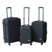 LEE COOPER - Lot de 3 valises rigides IRON - ABS - Anthracite