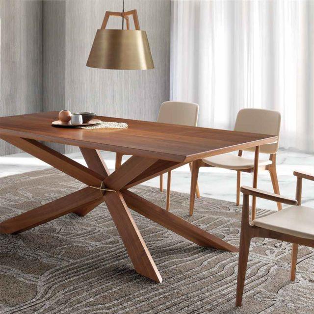 Nouvomeuble Table en bois contemporaine Istanbul