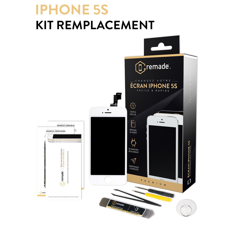 remade kit de r paration pour cran iphone 5s blanc. Black Bedroom Furniture Sets. Home Design Ideas