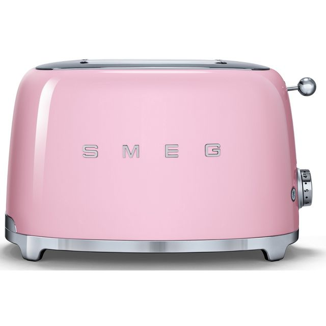 smeg grille pains 2 fentes 950w rose tsf01pkeu pas cher achat vente grille pain. Black Bedroom Furniture Sets. Home Design Ideas