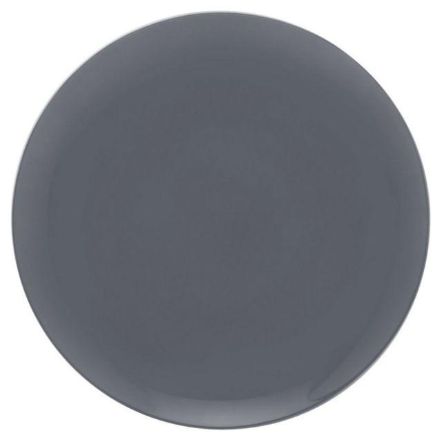guy degrenne 6 assiettes plates rondes carbone modulo color porcelaine par pas cher achat. Black Bedroom Furniture Sets. Home Design Ideas
