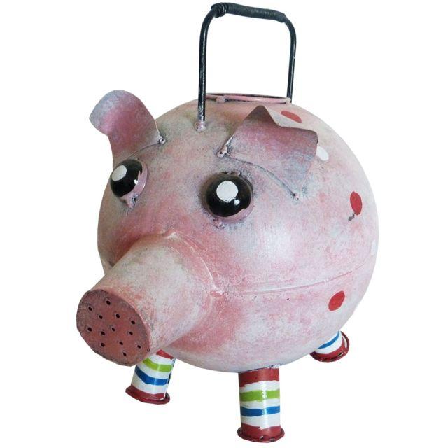 Les Animaux De La Fee Arrosoir Cochon déco style rose