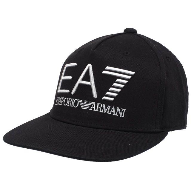 7edfd343877 Armani - Casquette américaine Ea7 American noir cap Noir 51598 - pas ...