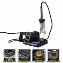 Silex - Station fer à souder électrique 75W avec écran digital et molette de réglages intégrée