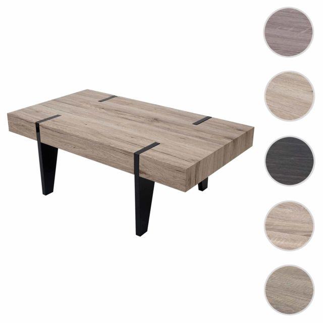Mendler Table Basse De Salon Kos T575 Fsc 40x110x60cm