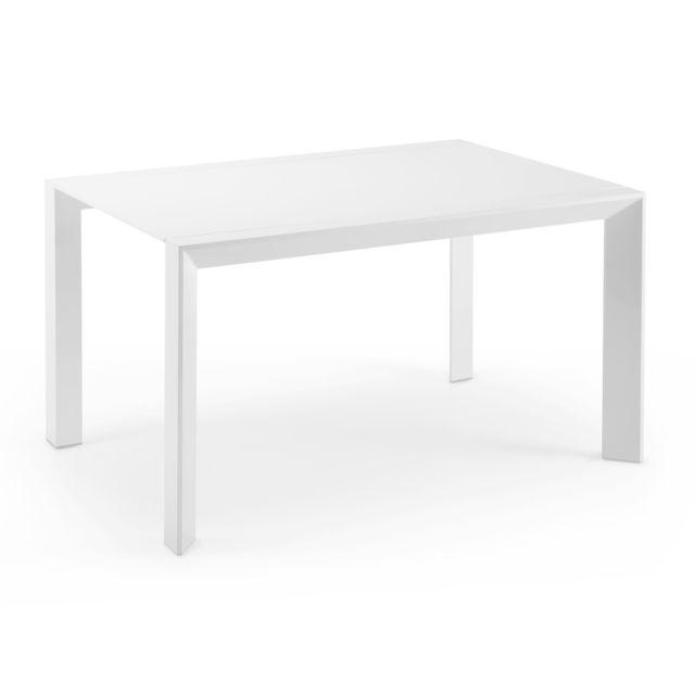 Kavehome Table extensible Nagar, 90-140x140 cm