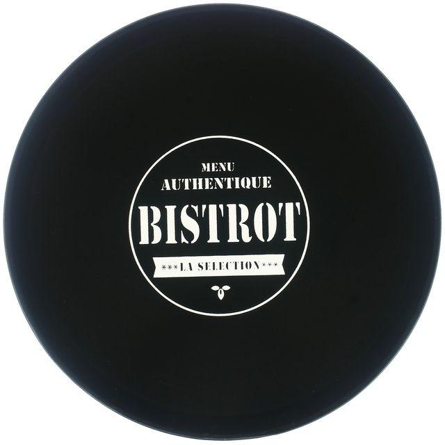 Promobo Plateau De Présentation Antidérapant Collection Bistrot Présentoir Pro Service Cocktail Dessert Fromage Noir