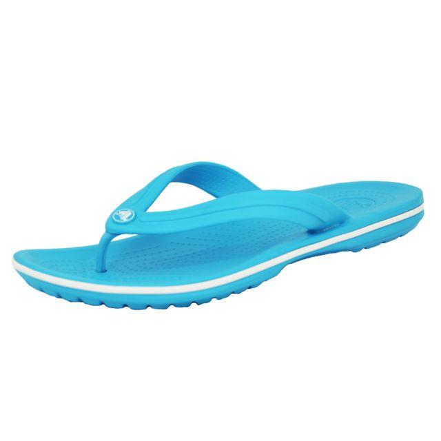 fdeac1f6550 Crocs - Crocband Flip Sandales Tong Unisexe Bleu - pas cher Achat   Vente  Sandales et tongs homme - RueDuCommerce