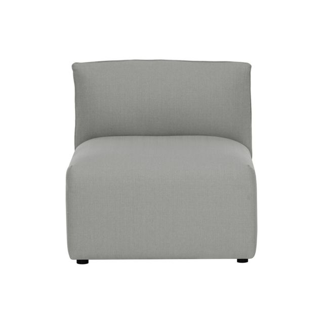 Miliboo Chauffeuse design tissu gris Modulo
