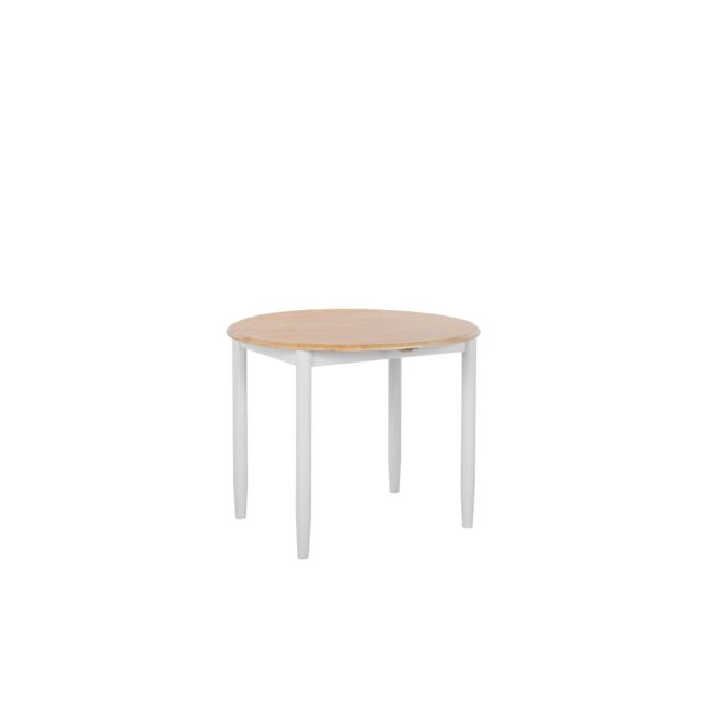 BELIANI Table ronde extensible en bois OMAHA - marron
