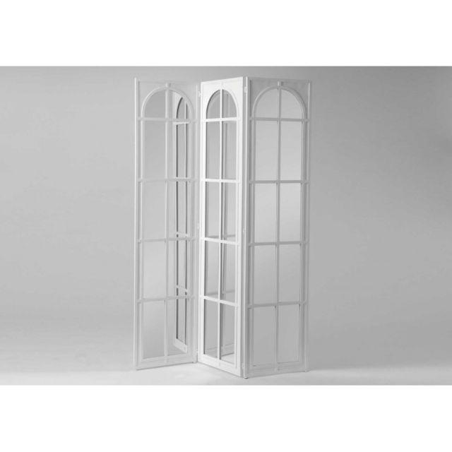 Autre paravent bois miroir blanc sebpeche31 for Miroir blanc bois