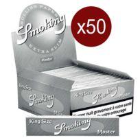 Smoking - Bte De 50 Carnets Feuilles Master King Size Slim 33F/CARNET Papier A Rouler
