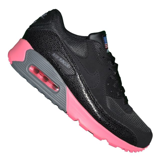 new style 9f4c6 ee869 Nike - Basket - Femme - Air Max 90 181 - Noir Rose Cerise