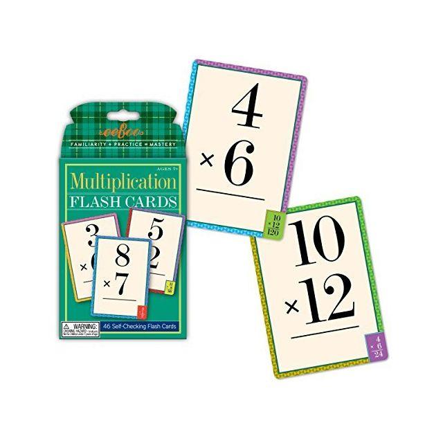 Eeboo Multiplication Flash Cards facts 0-12