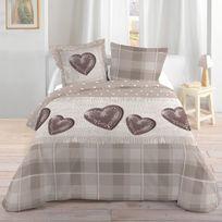 Lovely Casa - Housse de couette Ambin 220x240cm + 2 taies 100% coton