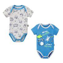 cd13c43be6d7a Petit Beguin - Lot de 2 bodies bébé garçon manches courtes Ramollo - Taille  - 12