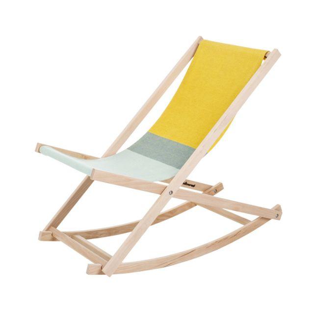 Weltevree Fauteuil à bascule Beach - jaune/vert
