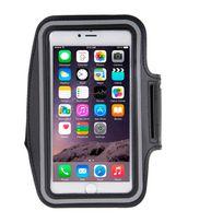 """Techexpert - Brassard sport tour de bras pour iphone 6 Plus 5.3"""" noir avec trous pour écouteurs"""