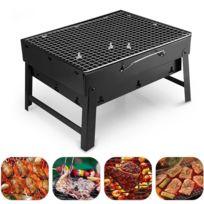 Arzopa - Barbecue Portable au charbon en Acier pour Terrasse Jardin Maison