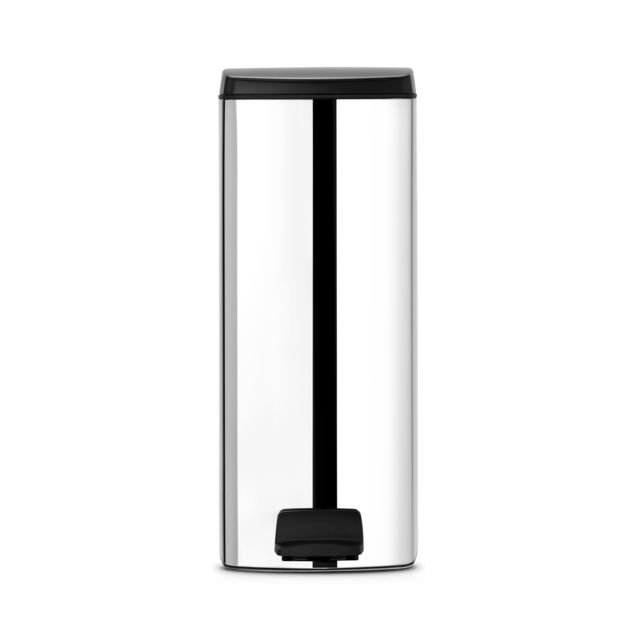 BRABANTIA Poubelle à Pédale Silent, 25L, Rectangle - Brilliant Steel