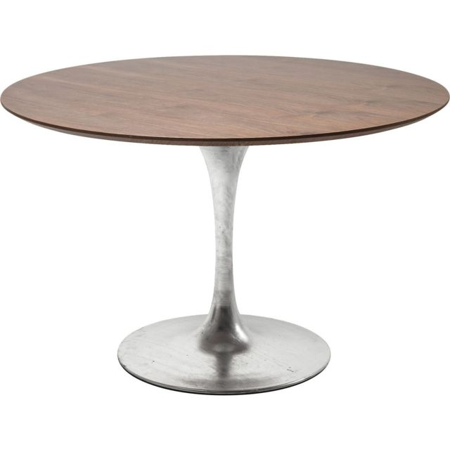 Karedesign Table Invitation noyer & zinc 120cm Kare Design