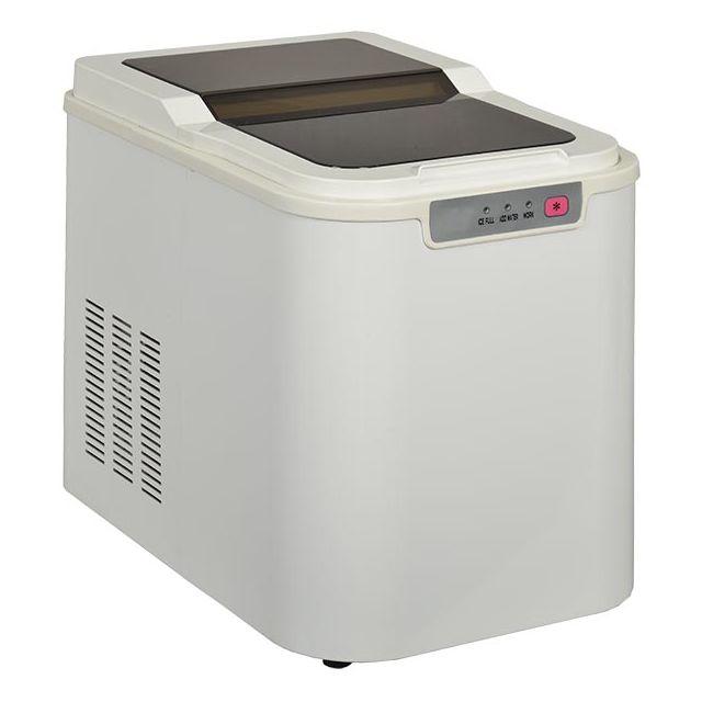 KITCHEN CHEF machine à glaçons 140w 12kg/24h avec nettoyage automatique blanc - yte-005a