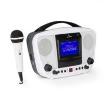 AUNA - KaraBanga Système karaoké Bluetooth Ecran couleur TFT 4,3'' - blanc