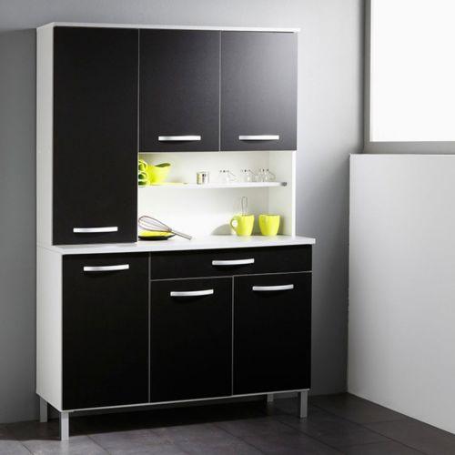paris prix buffet de cuisine smarty 120cm noir pas cher achat vente buffets. Black Bedroom Furniture Sets. Home Design Ideas