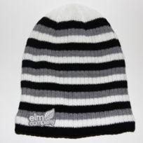 Elm - Bonnet Tristitude rayé noir gris blanc