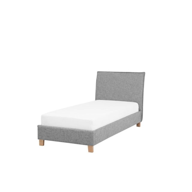 BELIANI Lit simple gris 90 x 200 cm SENNEZ - gris
