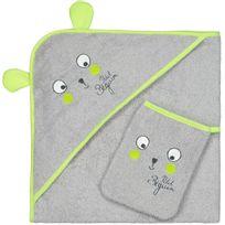 Petit Beguin - Cape et gant de bain bébé garçon Petite Forêt