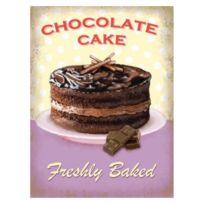 Universel - Plaque gateau chocolate cake affiche tole metal salon thé