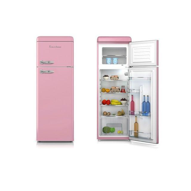 Schaub Lorenz Réfrigérateur 2 portes Noir 208L - SL 208 DDB