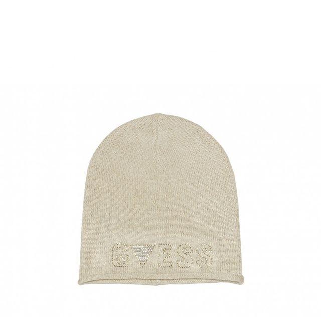 Guess - Bonnet Maria Rita Blanc - pas cher Achat   Vente Casquettes, bonnets,  chapeaux - RueDuCommerce f5db67073d5