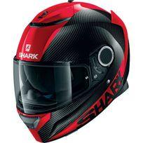 Shark - casque moto intégral en Carbone Spartan Carbon Skin Drr noir rouge brillant M
