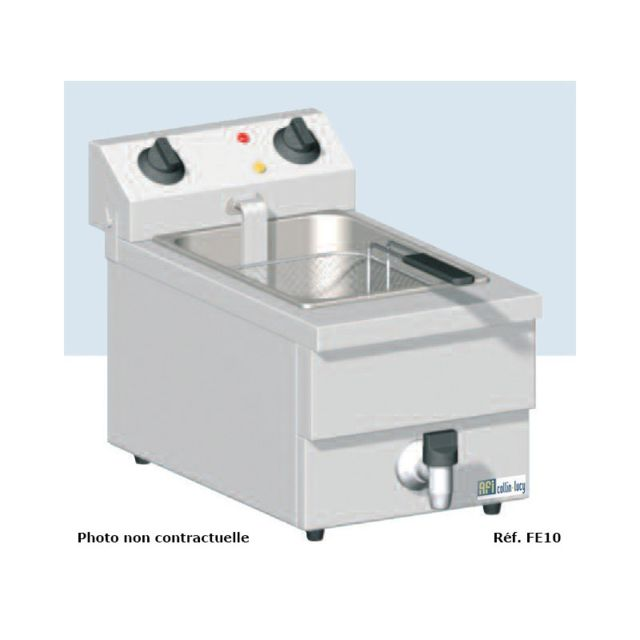 Materiel Chr Pro Friteuse de Table Electrique avec Vidange - 2 x 10 L - Afi Collin Lucy