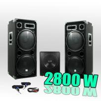 Ibiza Sound - Pack 15215 Sonorisation 2800W Caisson bi-amplifié